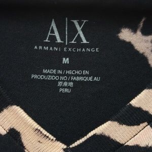 Armani Exchange Shirts - Armani Exchange Black V Neck Tee Shirt Size Medium